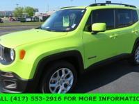 Recent Arrival! Hypergreen Clearcoat 2017 Jeep Renegade