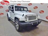 Certified.White 2017 Jeep Wrangler Unlimited Sahara 4WD