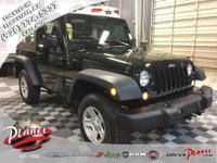 2017 Jeep Wrangler Sport Certified. CARFAX One-Owner.
