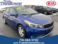 Recent Arrival! This 2017 Kia Forte LX in Deep Sea Blue