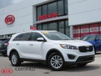 2017 Kia Sorento LX White ABS brakes, Alloy wheels,
