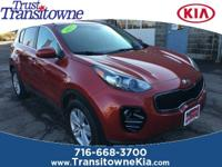 This 2017 Kia Sportage LX in Hyper Red features: