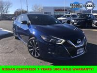 New Price! Certified. Deep Blue Pearl 2017 Nissan