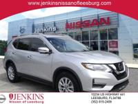 Certified. Brilliant Silver 2017 Nissan Rogue SV FWD