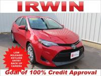 TOYOTA CERTIFIED! LOW MILES! BACKUP CAMERA! BLUETOOTH!