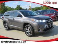 We are excited to offer this 2017 Toyota Highlander.