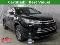Certified. 2017 Toyota Highlander XLE Midnight Black