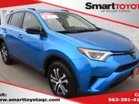 Certified. Electric Storm Blue 2017 Toyota RAV4 LE AWD