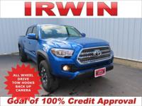 4WD! TOYOTA CERTIFIED! LOW MILES! TRD OFFROAD PACKAGE!