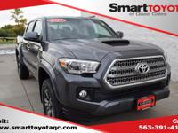 Certified. Gray 2017 Toyota Tacoma TRD Sport V6 4WD