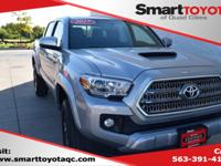 Certified. Silver 2017 Toyota Tacoma TRD Sport V6 4WD