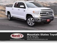 Check out this 2017 Toyota Tundra 4WD Platinum. Its