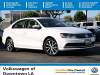 Certified. Pure White 2017 Volkswagen Jetta 1.4T SE