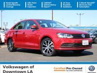 Certified. Cardinal Red 2017 Volkswagen Jetta 1.4T SE