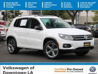 Certified. Pure White 2017 Volkswagen Tiguan Sport