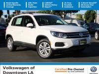 Certified. White 2017 Volkswagen Tiguan S Multi Point
