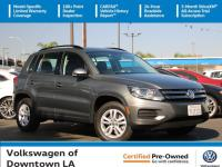 Certified. Pepper Gray Metallic 2017 Volkswagen Tiguan