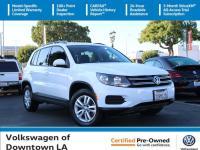 Certified. Pure White 2017 Volkswagen Tiguan S Multi