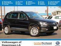 Certified. Deep Black Pearl 2017 Volkswagen Tiguan