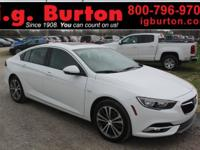 Clean CARFAX. Certified. White 2018 Buick Regal Essence