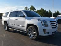 2018 Cadillac Escalade ESV Luxury 4WD Crystal White