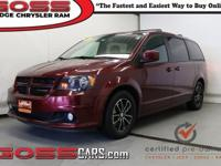 Octane Red Pearlcoat 2018 Dodge Grand Caravan GT, FWD,