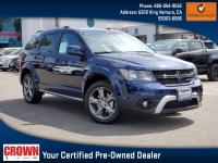 Certified. Contusion Blue Pearlcoat 2018 Dodge Journey
