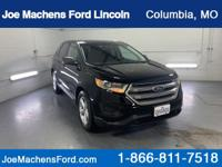 Certified. 2018 Ford Edge SE Shadow Black Alloy wheels,