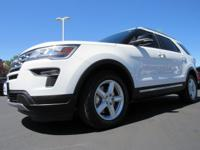 White 2018 Ford Explorer XLT FWD 6-Speed Automatic with