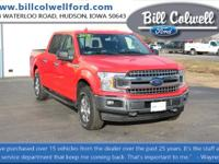 Race Red 2018 Ford F-150 XLT 4WD 10-Speed Automatic