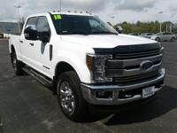 This 2018 Ford F-250 has a 6.7L V8, Diesel. Standard