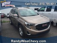 Clean CARFAX. Coppertino Metallic 2018 GMC Terrain SLE