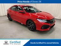 2018 Honda Civic Sport CARFAX One-Owner. Odometer is