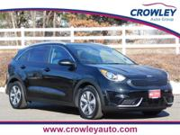 2018 Kia Niro LX Aurora Black. Located at Crowley Kia