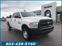 Clean CARFAX. Certified. White 2018 Ram 2500 Tradesman