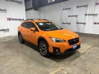 Certified. Orange 2018 Subaru Crosstrek 2.0i Limited