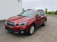 Certified. 2018 Crimson Red Pearl Subaru Outback 2.5i