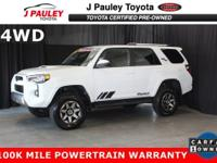 This certified 2018 Toyota 4Runner TRD Offroad is a