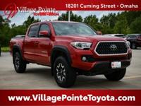 Certified. Barcelona Red 2018 Toyota Tacoma TRD Offroad