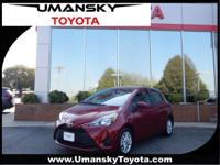 Clean CARFAX.Ruby Flare Pearl 2018 Toyota Yaris LE FWD