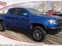 Colorado ZR2, 4D Crew Cab, 4WD. Certified. Blue