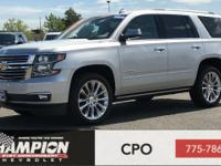Clean CARFAX. Silver Ice Metallic 2019 Chevrolet Tahoe