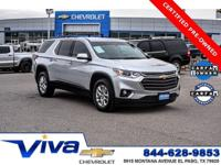 Silver Ice Metallic 2019 Chevrolet Traverse LT Cloth