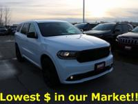 w/3rd row seating Certified. 2019 Dodge Durango 4D