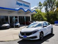 Clean CARFAX. Certified. White Orchid Pearl 2019 Honda