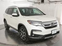 Certified. White Diamond Pearl 2019 Honda Pilot Touring