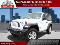 CERTIFIED PRE-OWNED !!!Bright White Clearcoat 2019 Jeep