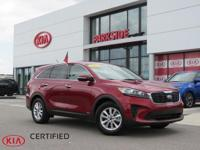 2019 Kia Sorento LX Passion Red AWD, AM/FM/MP3 w/ 7""