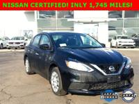 New Price! Certified. Aspen White 2019 Nissan Sentra SR
