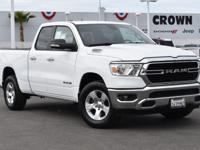 Certified. Bright White Clearcoat 2019 Ram 1500 Big